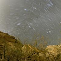 Star Trails over Box Canyon in Calfornia