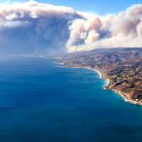 Woolsey Fire near the shore