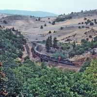 Westbound Train moving across the landscape