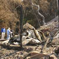 Wildfire Damage after Basin Fire in California in Big Sur
