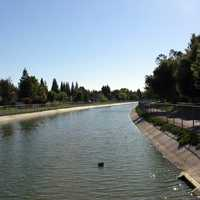Canal in the Pocket Area of Sacramento, California