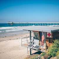 Life Guard Station by the Beach, San Diego, California