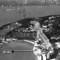 Bay Bridge Under Construction in San Francisco, California