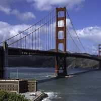 Closer View of the Golden Gate Bridge, San Francisco, California