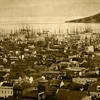 Port of San Francisco in 1851 in California