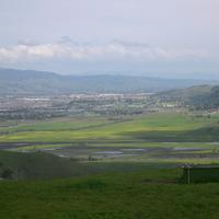 Coyote Valley Landscape and View in San Jose, California