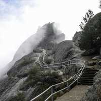 Trail up Moro Rock in Sequoia National Park, California