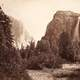 Bridalveil Fall and El Capitan in Yosemite National Park, California