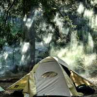 Camping in the Yosemite Valley at Yosemite National Park, California