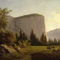 El Capitan painting at Yosemite National Park, California
