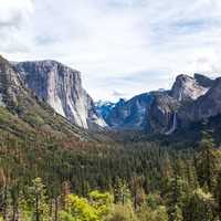 Landscape of the Valley at Yosemite National Park, California