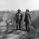Theodore Roosevelt and John Muir on Glacier Point in Yosemite National Park, California