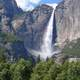 Waterfall and landscape in Yosemite National Park, California