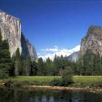 Yosemite National Park, landscape view in California