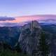 Yosemite Valley landscape in the Twilight Hours in Yosemite National Park, California