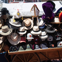 Hats on the stand