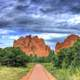 Road to the rocks of the Gods at Garden of the Gods, Colorado