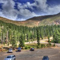 Parking Lot View at Pikes Peak, Colorado