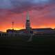 Sunset and Dusk over the Ritchie Center at University of Denver