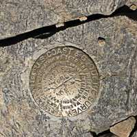 Elevation Marker at Mount Elbert Colorado