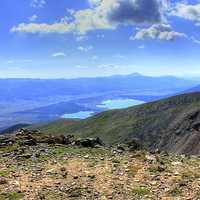 Looking into the Valley at Mount Elbert, Colorado