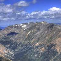 Mountains from Mount Elbert, Colorado