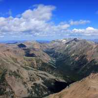 Overview from the top from Mount Elbert, Colorado
