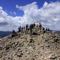 Resting on the Summit at Mount Elbert Colorado