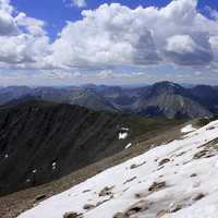 Snow on the Mountain at Mount Elbert, Colorado