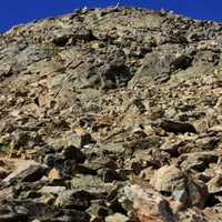 Tough Path to the Top at Mount Elbert, Colorado