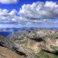 View of the Rockies from Mount Elbert, Colorado