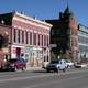 Downtown Leadville buildings and street in Colorado