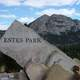 Estes Park Sign on a slab of rock