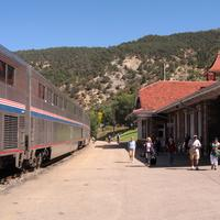 Glenwood Springs train station in Colorado
