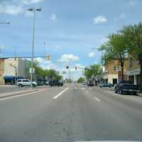 Main Street facing north in downtown in Lamar, Colorado