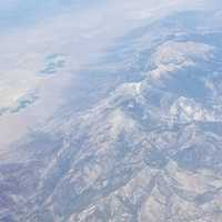 Mountaintops from an aerial view