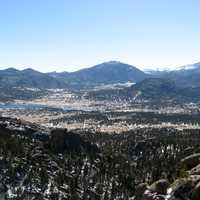 Panorama of Estes Park, Colorado