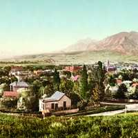 Panorama print of Boulder, 1900 in Colorado