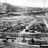 Panoramic View of Salida in 1910 in Colorado