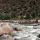 The Rushing waters of the green river in Colorado