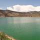 Seaman Reservoir landscape with green water landscape