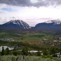 Silverthorne seen from Ptarmigan Peak in Colorado