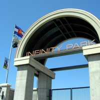 The entrance to Infinity Park in Glendale, Colorado