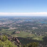 View of South Boulder from Bear Peak in Colorado