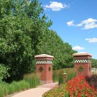 Walkway between Cherry Creek and Cherry Creek S Dr in Colorado