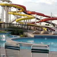 Waterslide at waterpark in Englewood, Colorado