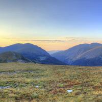 Dawn over the Mountains at Rocky Mountains National Park, Colorado
