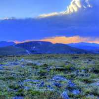 large clouds at Dusk at Rocky Mountains National Park, Colorado