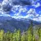 Large clouds over the Mountains at Rocky Mountains National Park, Colorado