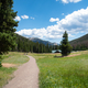 Path to the visitor center and mountains